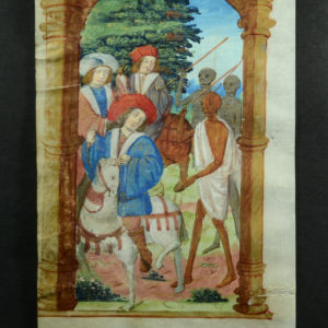 6. Miniature sur vélin, France, circa 1490